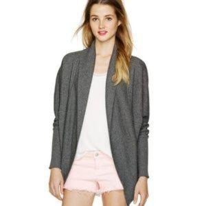 Aritzia Wilfred Diderot XS Grey Cotton Long Sleeve Cocoon Cardigan Sweatshirt